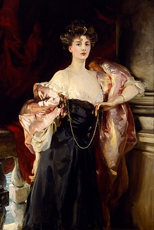 "High society (social class) -  ""Portrait of Lady Helen Vincent"" by J.S. Sargent, 1904"