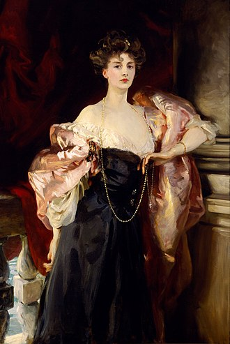 Birmingham Museum of Art - John Singer Sargent's Portrait of Helen Vincent, Viscountess D'Abernon from 1904 AD.