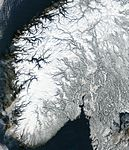 Satellite image of Norway in February 2003 crop.jpg