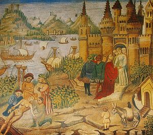 Salerno - The Schola Medica Salernitana in a miniature from Avicenna's Canon.