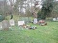 Seat in Ropley Churchyard - geograph.org.uk - 1182329.jpg