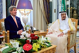 Secretary Kerry Sits With Saudi King Salman Before Bilateral Meeting in Riyadh (17402045165).jpg