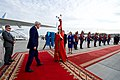 Secretary Kerry is Greeted by a Woman in Traditional Mongolian Dress (27393202431).jpg