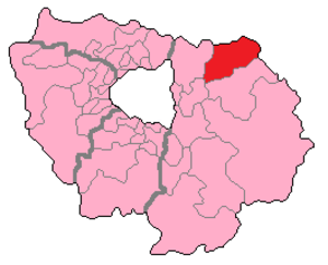 Seine-et-Marne's 6th constituency - Seine-et-Marne's 6th Constituency shown within Île-de-France.