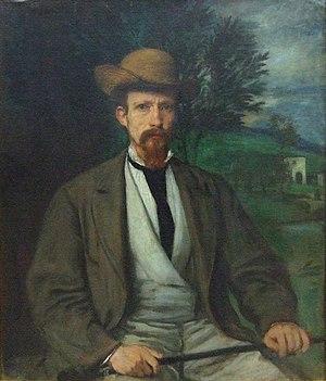 Hans von Marées - Image: Selbstbildnis mit gelbem Hut (1874)