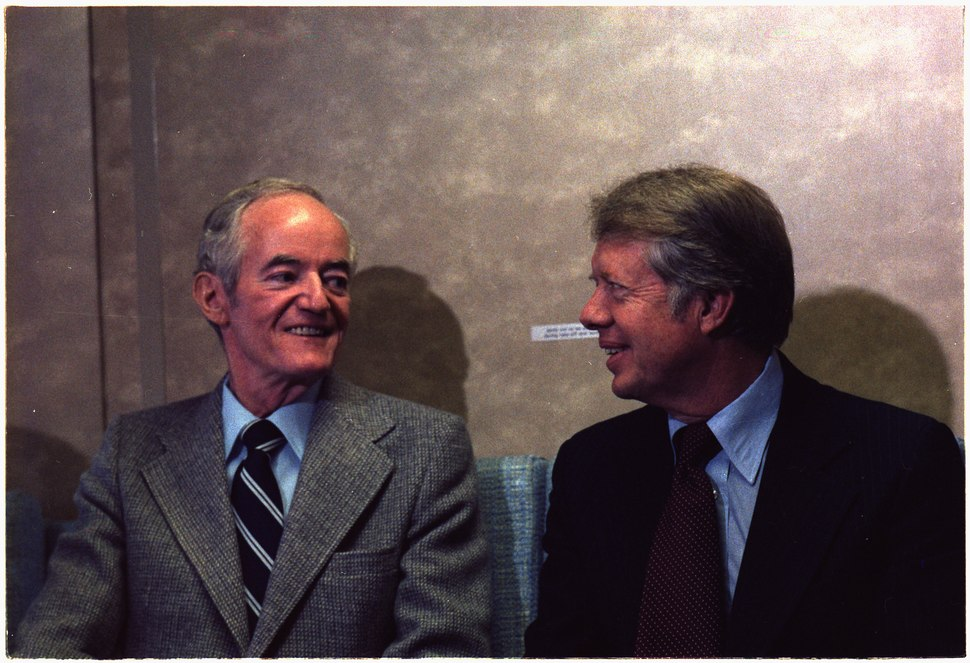 Senator Hubert Humphrey and Jimmy Carter - NARA - 176625