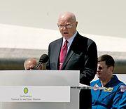 Senator John Glenn at Space Shuttle Discovery Transfer Ceremony