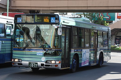 Sendai city bus 1077