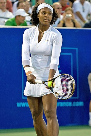 Serena Williams playing for the Washington Kas...