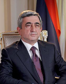 Serzh Sargsyan 3rd President of Armenia