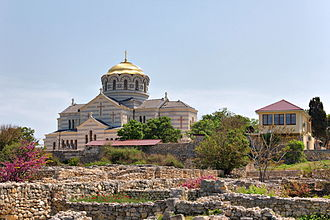 History of Christianity in Ukraine - The ruins of Korsun (Chersonesos) Crimea, a place where the East Slavic Christianity was born.
