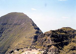 Beinn Alligin - Looking back to Sgùrr Mhòr from the Horns of Alligin