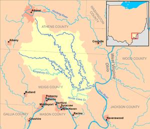 Shade River - Image: Shade River map