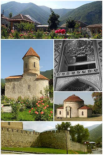 Shaki, Azerbaijan - Image: Shaki montage 2