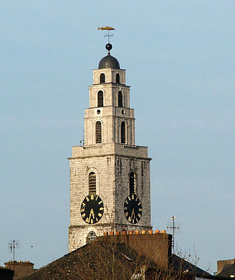 Church of St Anne, Shandon - The clock tower of St Anne's church, containing the Bells of Shandon