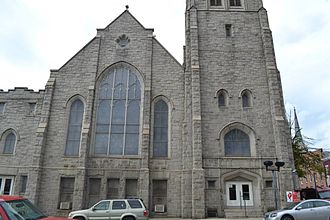 History of Baltimore - Sharp Street Church was established 1787 and erected existing building in 1898