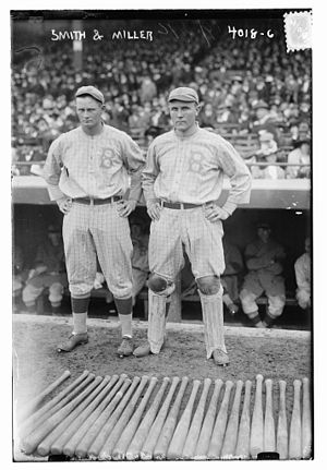 Sherry Smith - Sherry Smith (left) with teammate Otto Miller, on the Brooklyn Robins in 1916