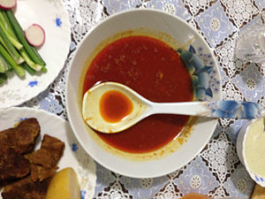 Shorwa - Afghan traditional soup or Shorwa.