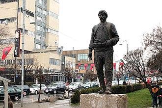Gjilan - Statue of Idriz Seferi in downtown