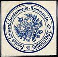 Siegelmarke Fürstlich Schwarzburgisches Gendarmerie - Kommando - Rudolstadt W0253491.jpg