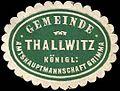 Siegelmarke Gemeinde Thallwitz - Königl. Amtshauptmannschaft Grimma W0262094.jpg