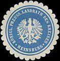 Siegelmarke K.Pr. Landrath des Kreises Heinsberg W0391541.jpg