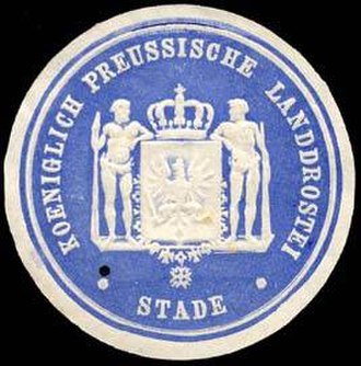 Stade (region) - Sealing stamp of the Stade Region, years from 1866 to 1885