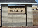 Sign for Gunnison City Cemetery, Utah, Nov 15.jpg