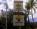 Signs at Beach at Pipeline, North Shore Oahu, Hawai'i, USA - panoramio.jpg
