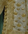 Silvertyg dekorerat med kronor av guldtråd, gjord 1809 - Livrustkammaren - 81604.tif
