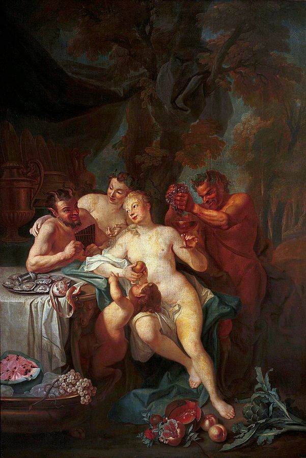 Feast of nymphs and satyrs.