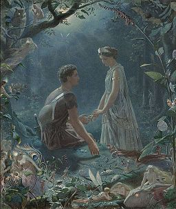 Simmons-Hermia and Lysander. A Midsummer Night's Dream