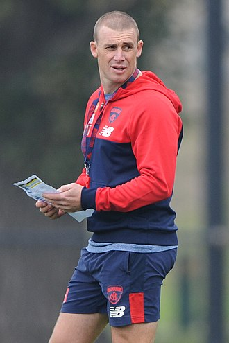 Simon Goodwin - Goodwin as Melbourne coach in April 2018