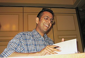 Simon Singh - Simon Singh signing a book for a fan, Brisbane, 23 May 2005