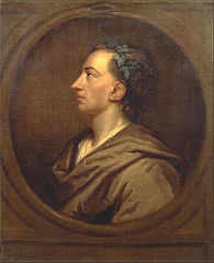 Alexander Pope Profile, Crowned with Ivy