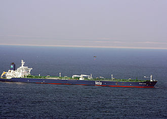 MV Sirius Star - Ransom being dropped by parachute on 9 January 2009