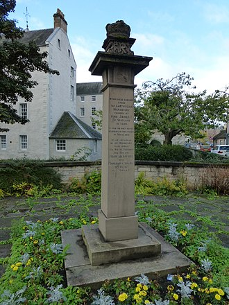 Perth Charterhouse - A monument now marks the site of the Charterhouse