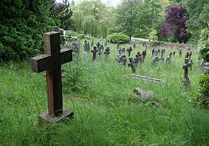 Smallcombe Cemetery - General view of the cemetery grounds.