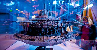 Ralph McQuarrie - Model of the Mother Ship from Close Encounters of the Third Kind, based on McQuarrie's design