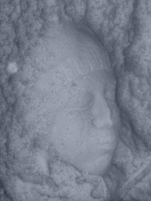 Hollow-Face illusion - Image: Snow Face 8496
