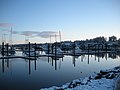 Snow in Bandon Harbor, PeggyNelson (6501982559).jpg