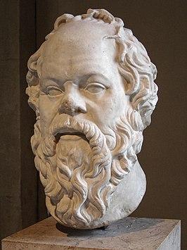 Buste van Socrates in het Louvre in Parijs, Romeinse kopie uit de 1e eeuw n.Chr. van een Grieks origineel in brons.
