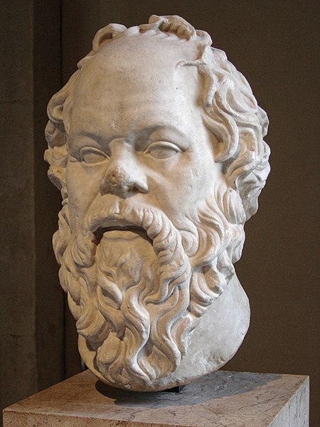 Bust of Socrates in The Louvre (Image from Wikipedia Commons)