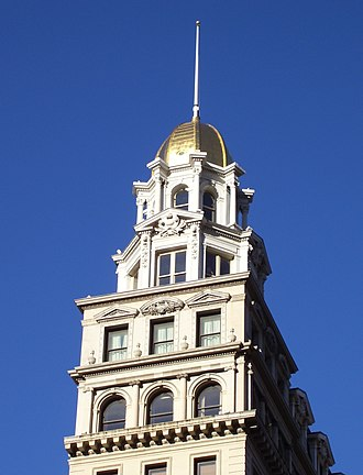 Flatiron District - The gold dome of the Sohmer Piano Building (1897) is a distinctive landmark of the Flatiron District