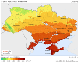 Solar power in Ukraine - Solar potential in Ukraine
