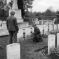 Soldiers inspect graves at the South African First World War cemetery at Delville Wood, 13 November 1944. BU1324.jpg