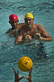Soldiers with the Warrior Transition Battalion and Marines with the Wounded Warrior Regiment participate in a water polo competition at the Schofield Army Barracks in Honolulu, Hawaii, on Sept 120907-F-MQ656-158.jpg