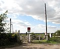 Somerleyton railway station - level crossing at end of Station Road - geograph.org.uk - 1505936.jpg