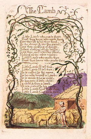 The Lamb - Image: Songs of Innocence copy B 1789 Library of Congress object 29 The Lamb