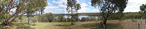 South Para Reservoir - Image: South Para from hill lookout merged